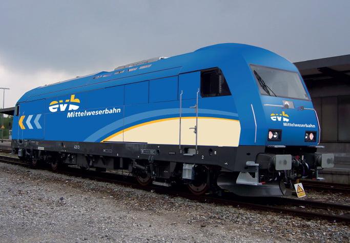 Triebwagen-Design für die evb-Mittelweserbahn